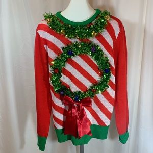 Sweaters - Ugly Christmas Sweater with Garland and Bells